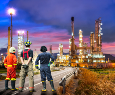 bigstock-Engineer-Survey-Of-Oil-Refiner-104421995